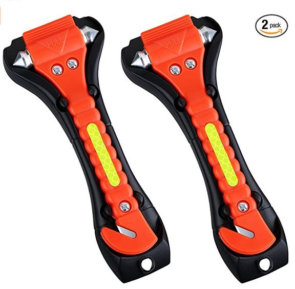 2 Pack Car Safety Hammer, Emergency Escape Tool with Car Window Breaker