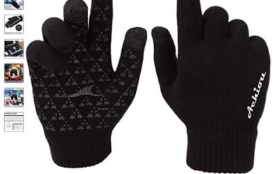 Winter Knit Gloves Touchscreen Warm Thermal Soft Lining Elastic Cuff Texting