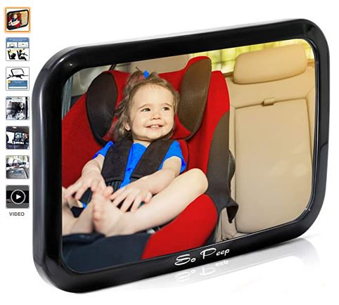 Baby Backseat Mirror for Car – View Infant in Rear Facing Car Seat